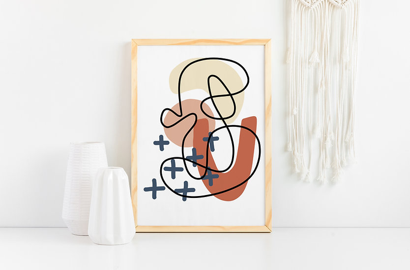 Modern Geometric Line Art Wall Print