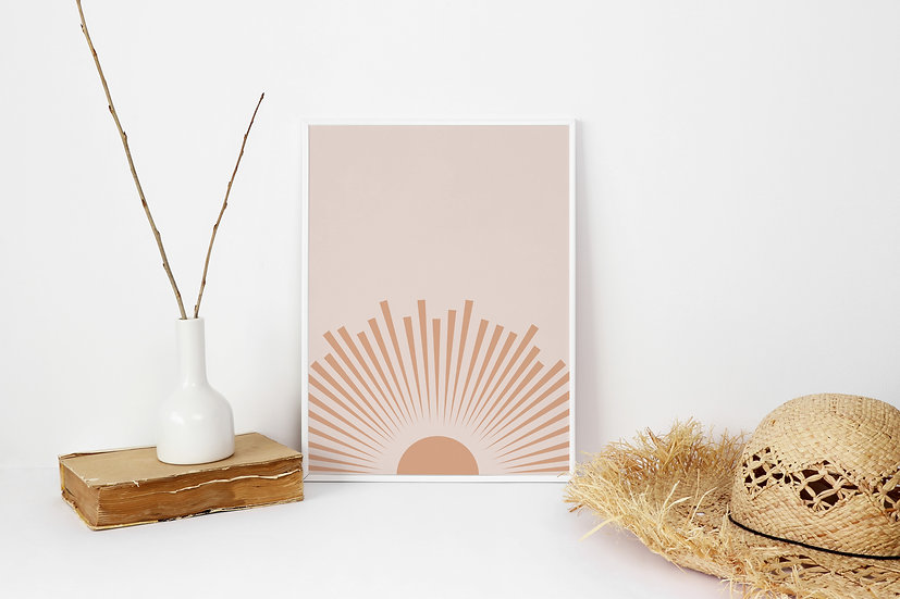 Boho Sunrise Digital Print