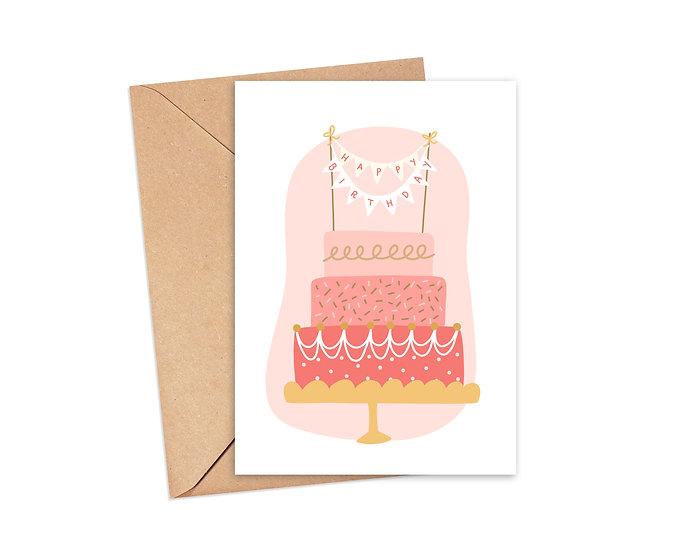Cute Birthday Cake - Birthday Greeting C
