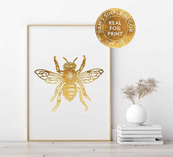 Bumble Bee - Real Foil Print