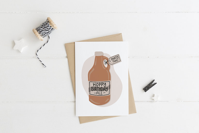 Growler - Birthday Greeting Card