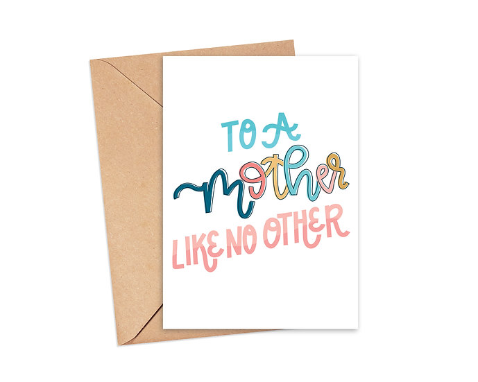 To a Mother Like no Other Greeting Card