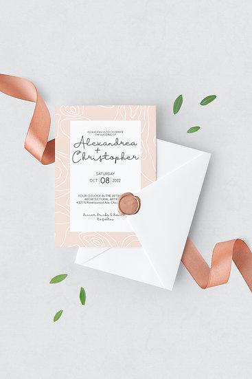 Topography Wedding Invitation
