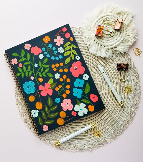 Hardcover Floral Notebook