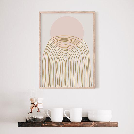 Abstrct Rainbow Digital Print