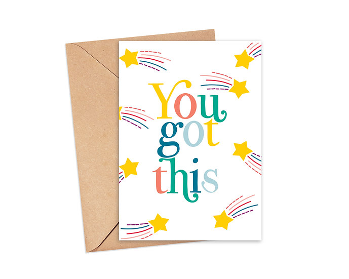You Got This Shooting Star Greeting Card