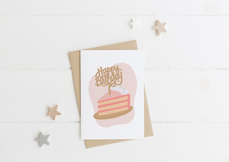 Birthday Cake - Birthday Greeting Card