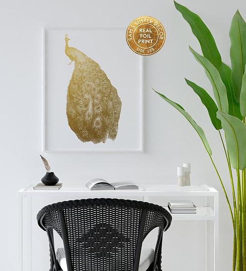 Peacock - Real Foil Print