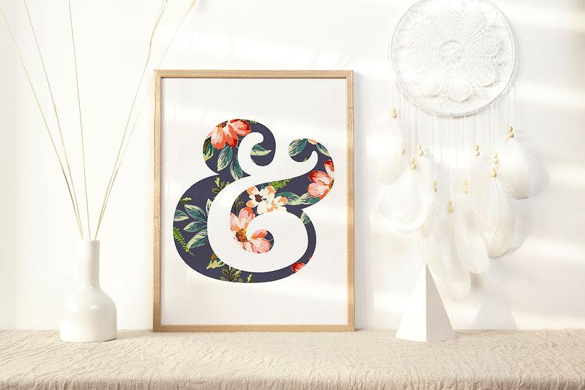 Floral Ampersand Digital Print