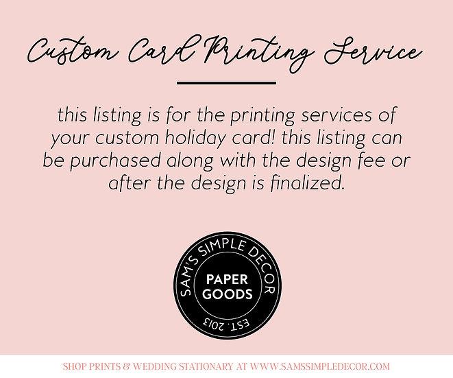 Custom Holiday Card Printing Service