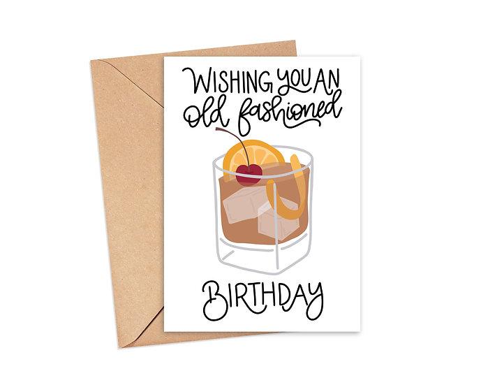 Old Fashioned Birthday - Birthday Greeting Card