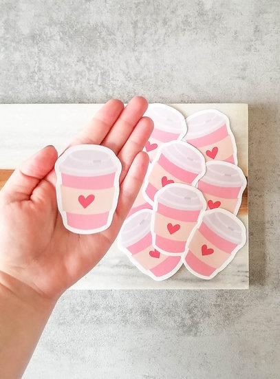 Coffee Lover  - Handmade Valentine's Sticker