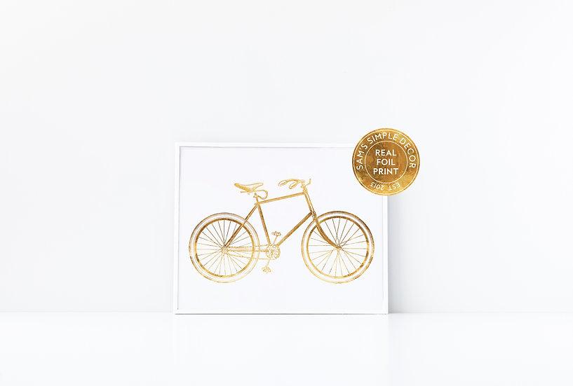 Bike - Real Foil Print