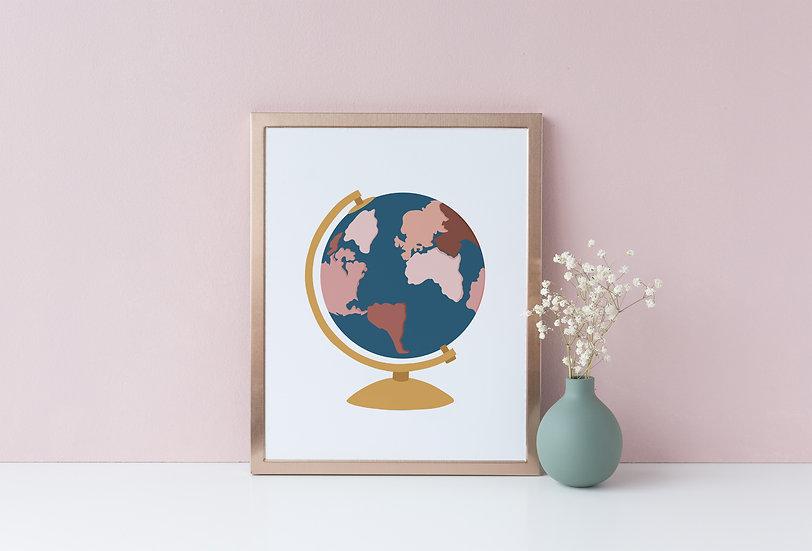 Gold Globe Art Print