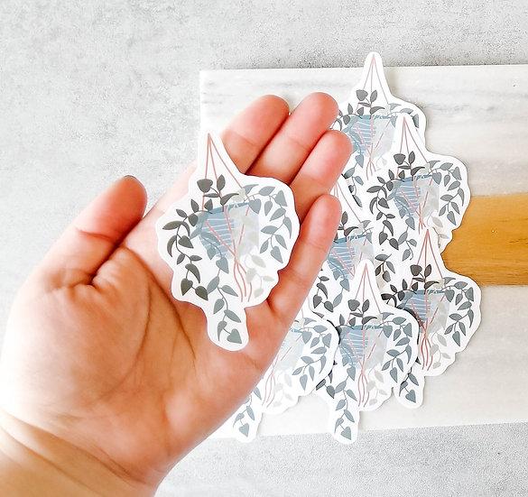 Hanging Ivy Plant - Handmade Plant Sticker