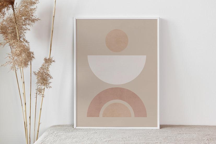 Modern Geometric Digital Print
