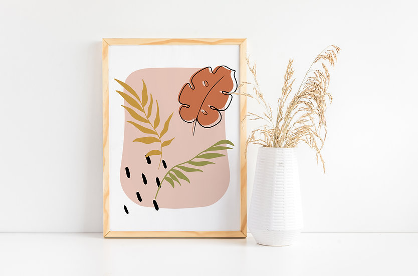 Modern Tropical Botanical Print