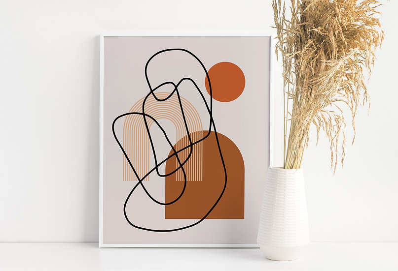 Abstract Modern Line Art Print