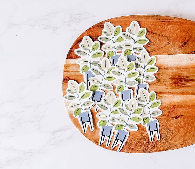 Cute Plant in Pot - Handmade Plant Sticker