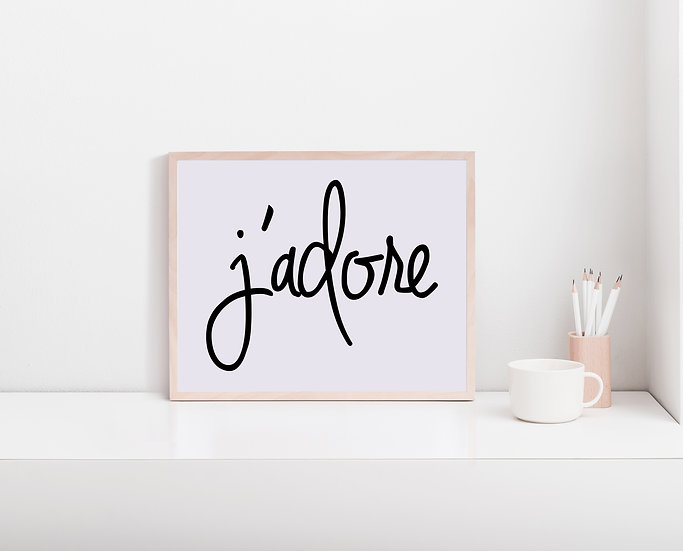 Jadore Digital Print