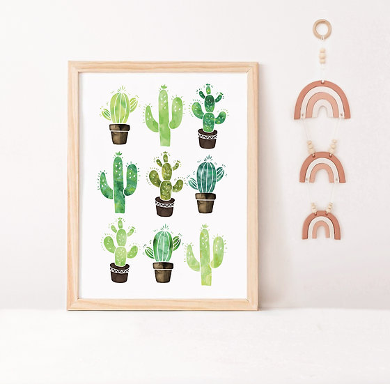Watercolor Cactus Digital Print