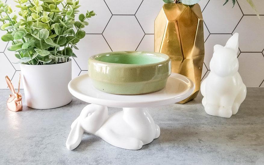 Green Bunny Ceramic Bowl 1