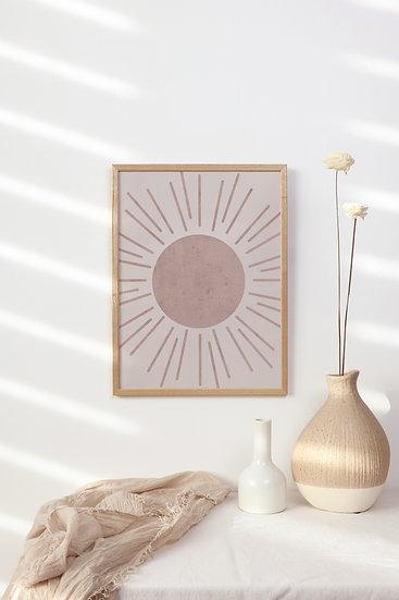 Boho Sunburst Digital Print