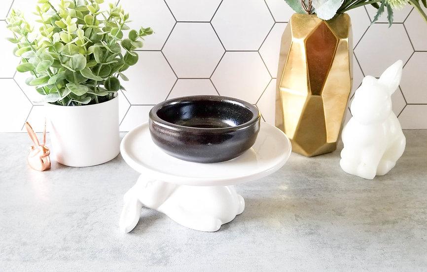Black Bunny Ceramic Bowl 3