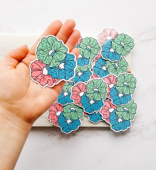 Neon Scrunchies - 90's Stickers