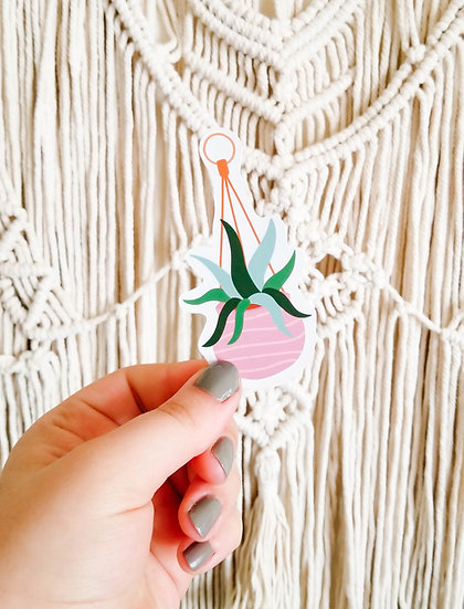 Cute Hanging Plant - Handmade Plant Sticker