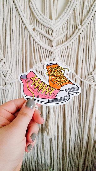 Neon Sneakers - 90's Sticker