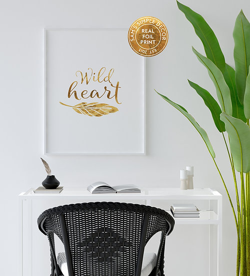Wild Heart - Real Foil Print