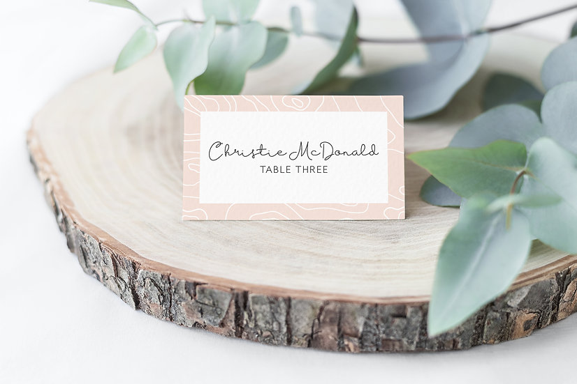 Topography Wedding Place Cards