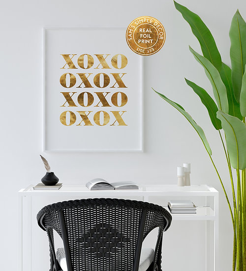 XOXO - Real Foil Print