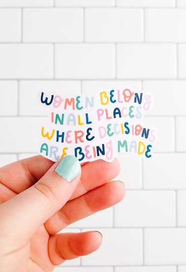 Ruth Bader Ginsburg - Quote Sticker