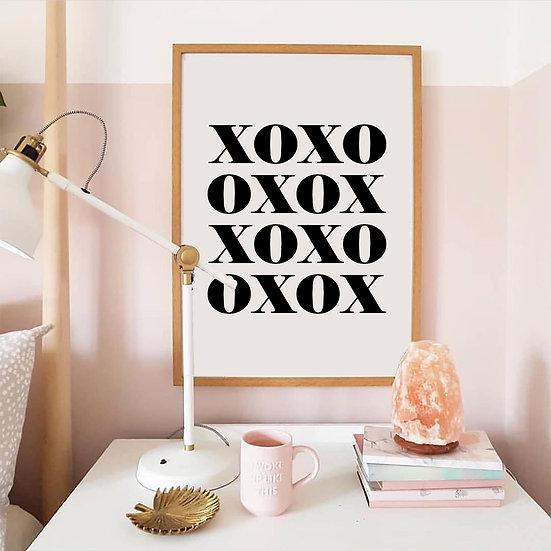 XOXO Digital Print