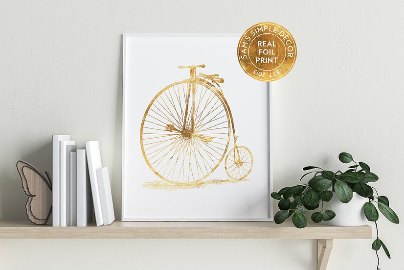 Unicycle - Real Foil Print