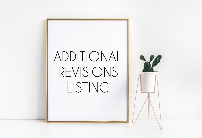 Print Revision/Edit Listing