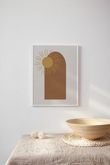 Boho Sun Digital Print