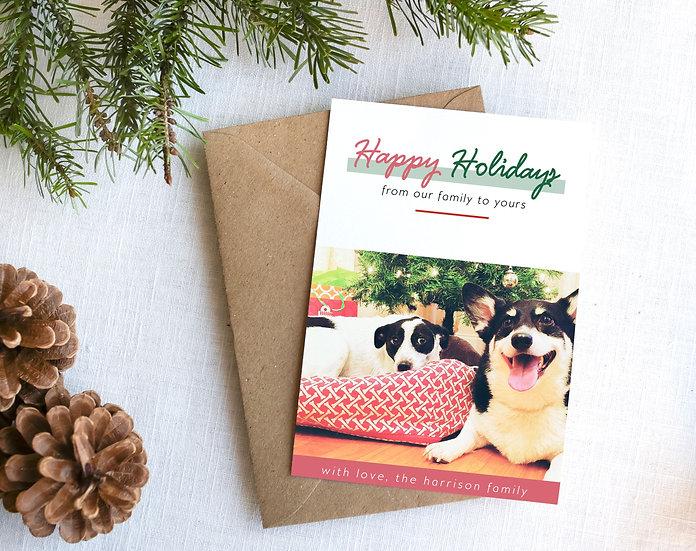 Modern Happy Holidays Card