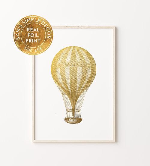 Hot Air Balloon - Real Foil Print