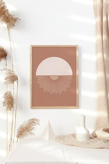 Geometric Boho Digital Print