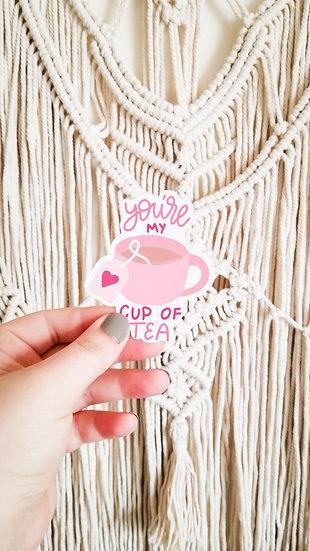 You're My Cup Of Tea - Handmade Valentine's Sticker