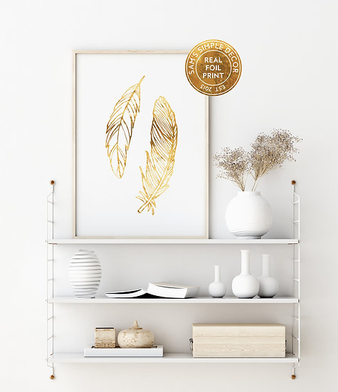 Feathers - Real Foil Print