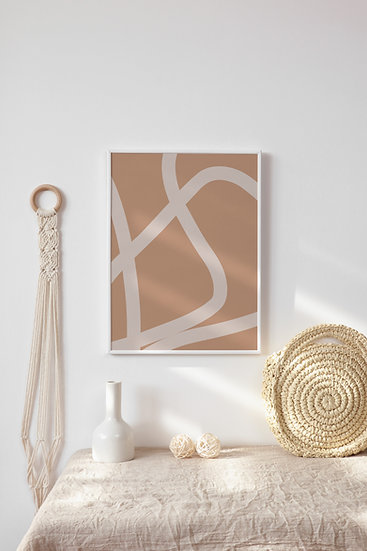 Boho Abstract Digital Print