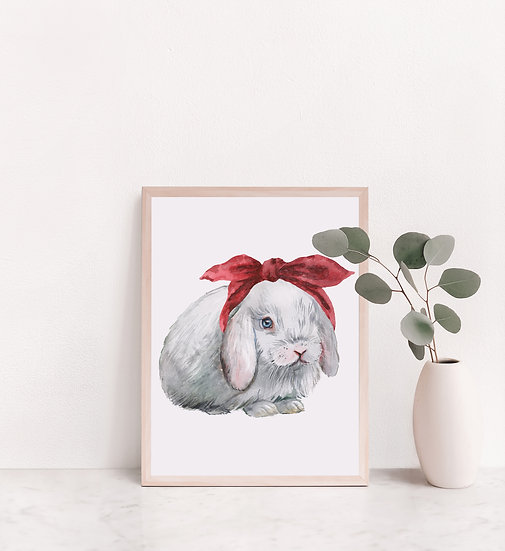 Lop Bunny in Headband Print