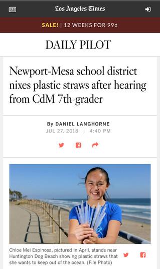 LA Times Article About My School District Success!