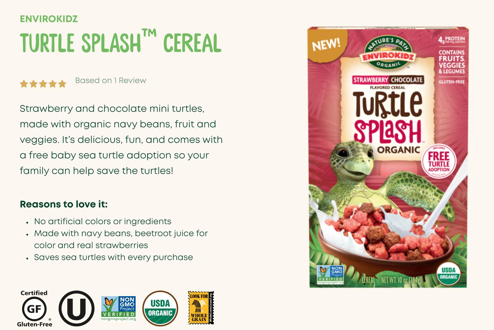 New Cereal Turtle Splash!