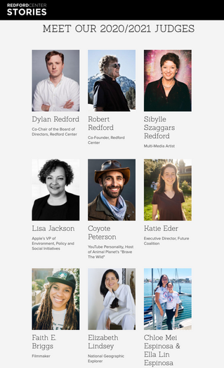 Judges for The Redford Center Stories Challenge 2020/2021