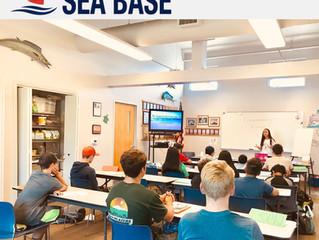 Presenting to Newport Sea Base Summer Campers!